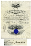 Benjamin Harrison Military Appointment Signed -- Appointing Assistant Surgeon to the U.S. Navy