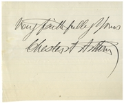 Chester Arthur Large Signature