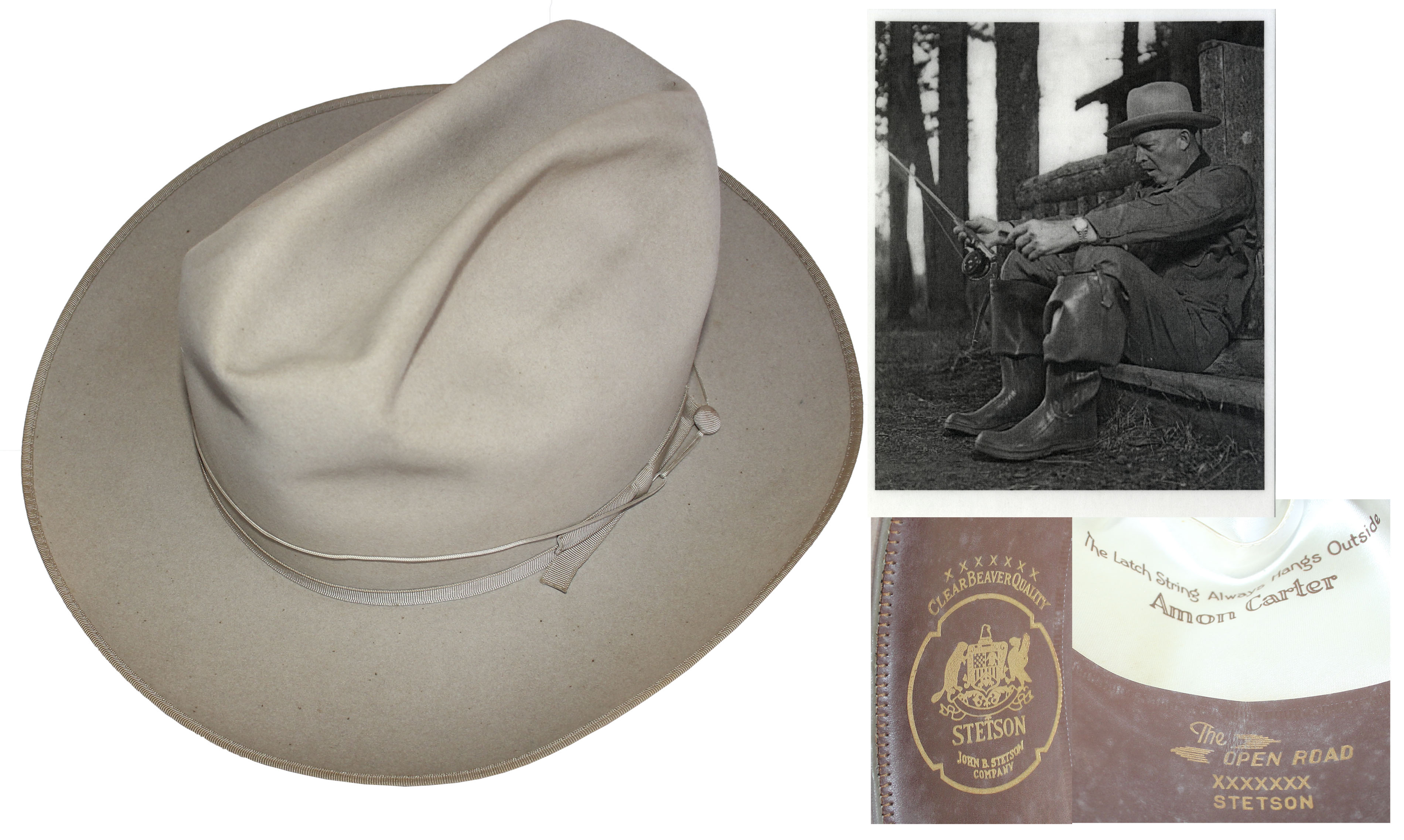 357bcf0baa3 Dwight Eisenhower s Personally Own   Worn Stetson Hat -- Worn by Eisenhower  While Hunting ...