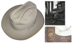 Dwight Eisenhowers Personally Own & Worn Stetson Hat -- Worn by Eisenhower While Hunting & Fishing