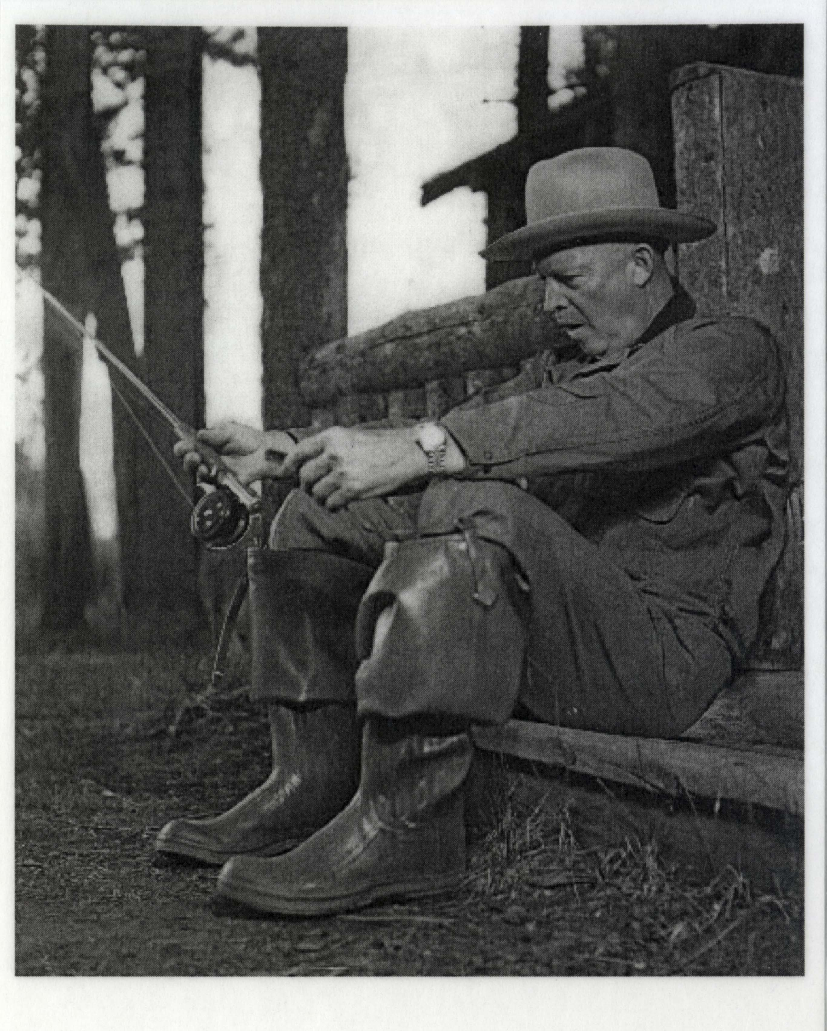 6c6e9e05f3ef7 ... Dwight Eisenhower s Personally Own   Worn Stetson Hat -- Worn by  Eisenhower While Hunting