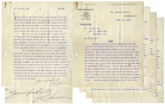 Herbert Hoover 5pp. CONFIDENTIAL Letter Signed, With His Handwritten Corrections -- ...there is no doubt there is a traitor in our camp...