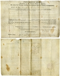 John Quincy Adams Illinois Land Grant Signed as President