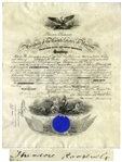 Theodore Roosevelt Military Appointment Signed -- Roosevelt Appoints Surgeon in the U.S. Navy