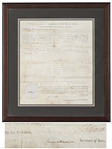 Thomas Jefferson Military Land Grant Signed as President -- Countersigned by James Madison as Secretary of State