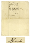 Abraham Lincoln Autograph Note Signed as President -- Lincoln Asks His Secretaries of State & War for Their Opinion