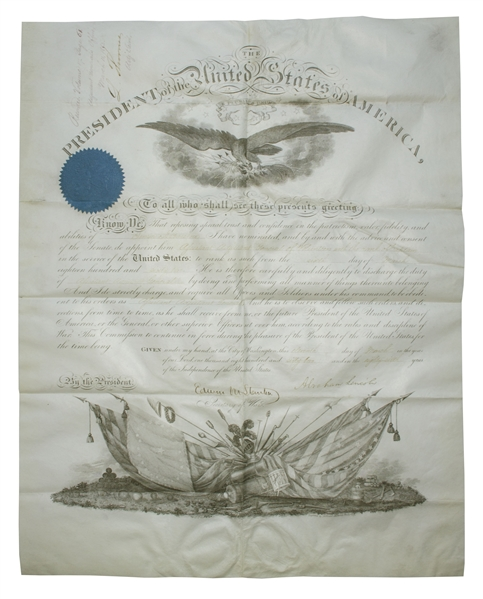 Abraham Lincoln Military Document Signed as President During the Civil War -- Signed With His Full Signature, ''Abraham Lincoln'' -- Near Fine Condition