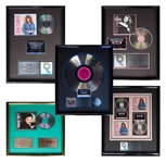 Lot of RIAA Awards Given to Music Manager Ken Kragen Including Charity Album We Are the World by U.S.A. for Africa -- Lot Also Includes Trisha Yearwood & Travis Tritt