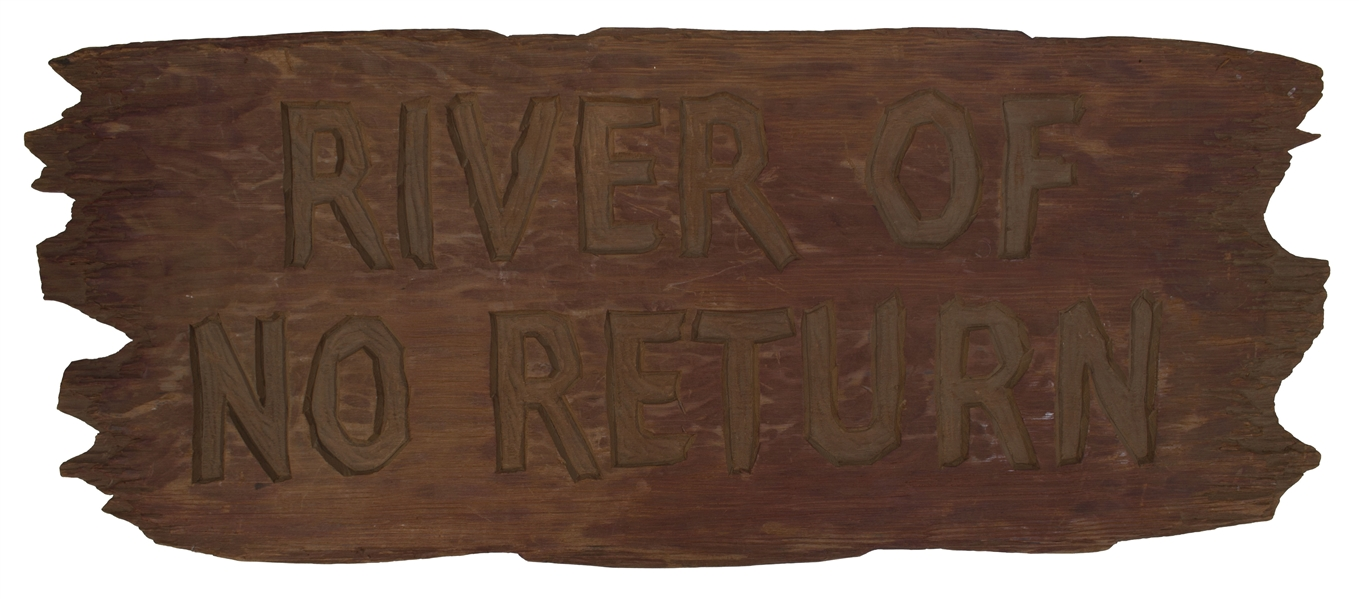 ''River of No Return'' Title Art -- 1954 Film Starring Marilyn Monroe