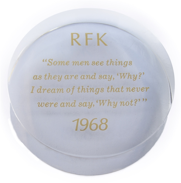 Robert F. Kennedy Commemorative Paperweight -- From the Kennedy Family