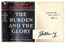 Robert Kennedy Signed First Edition of The Burden and the Glory, a Collection of Speeches by John F. Kennedy