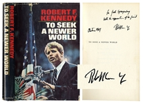Robert F. Kennedy Signed First Edition of His Book To Seek a Newer World