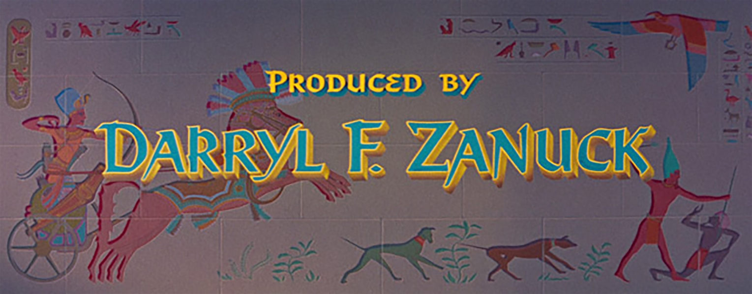 ''The Egyptian'' Title Art -- Used in ''Produced by Darryl F. Zanuck'' and ''Directed by Michael Curtiz'' Opening Credits