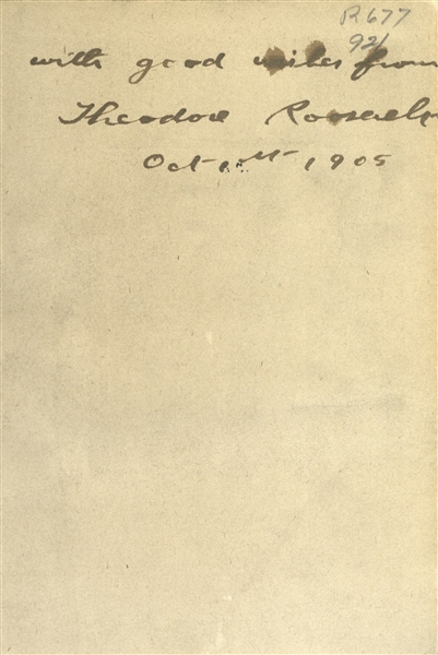 Theodore Roosevelt Signed Collection of His Writings -- Signed as President, With PSA/DNA COA