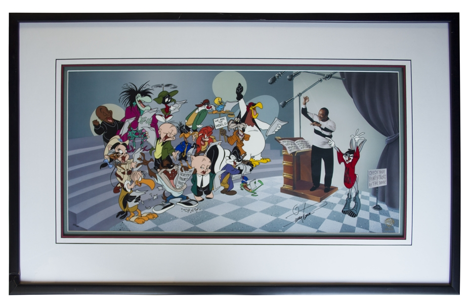 Quincy Jones Signed Limited Edition Artwork of Warner Brothers Characters Performing ''We Are the World''
