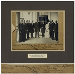 Extremely Rare Wilbur & Orville Wright Signed Photo -- Also Signed by President Taft During a 1909 Visit by the Wright Brothers to the White House