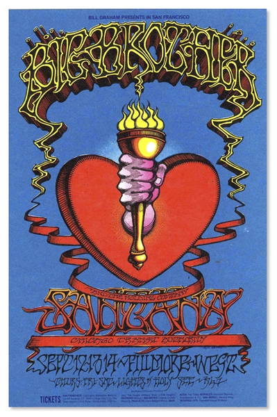 1968 Fillmore West Handbill -- Ornate Artwork Featuring Big Brother & the Holding Company
