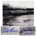 Bobby Thomson and Ralph Branca Signed 20 x 16.5 Photo of the Famed Shot Heard Round the World -- Steiner COA