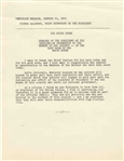 John F. Kennedy Inaugural Press Release on the Swearing-In of His Cabinet