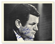 Ted Kennedy Signed 10 x 8 Photo -- To Arthur Shackman / With my best wishes to you / Ted Kennedy -- Near Fine