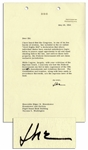 Eisenhower 1964 Letter Signed Regarding Civil Rights -- ...I scarcely see how the Federal Government can fail to take cognizance of the 14th and 15th Amendments and violations thereof...
