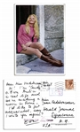 Photo Postcard From Ringo Starrs 1968 Sex Farce Candy -- Costar Ewa Aulin Writes ...Were making a movie in Rome...