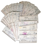 Lot of 50 Checks Signed by Charles Bubba Smith -- All Signed With His Name & Nickname, Charles Bubba Smith -- Very Good Condition