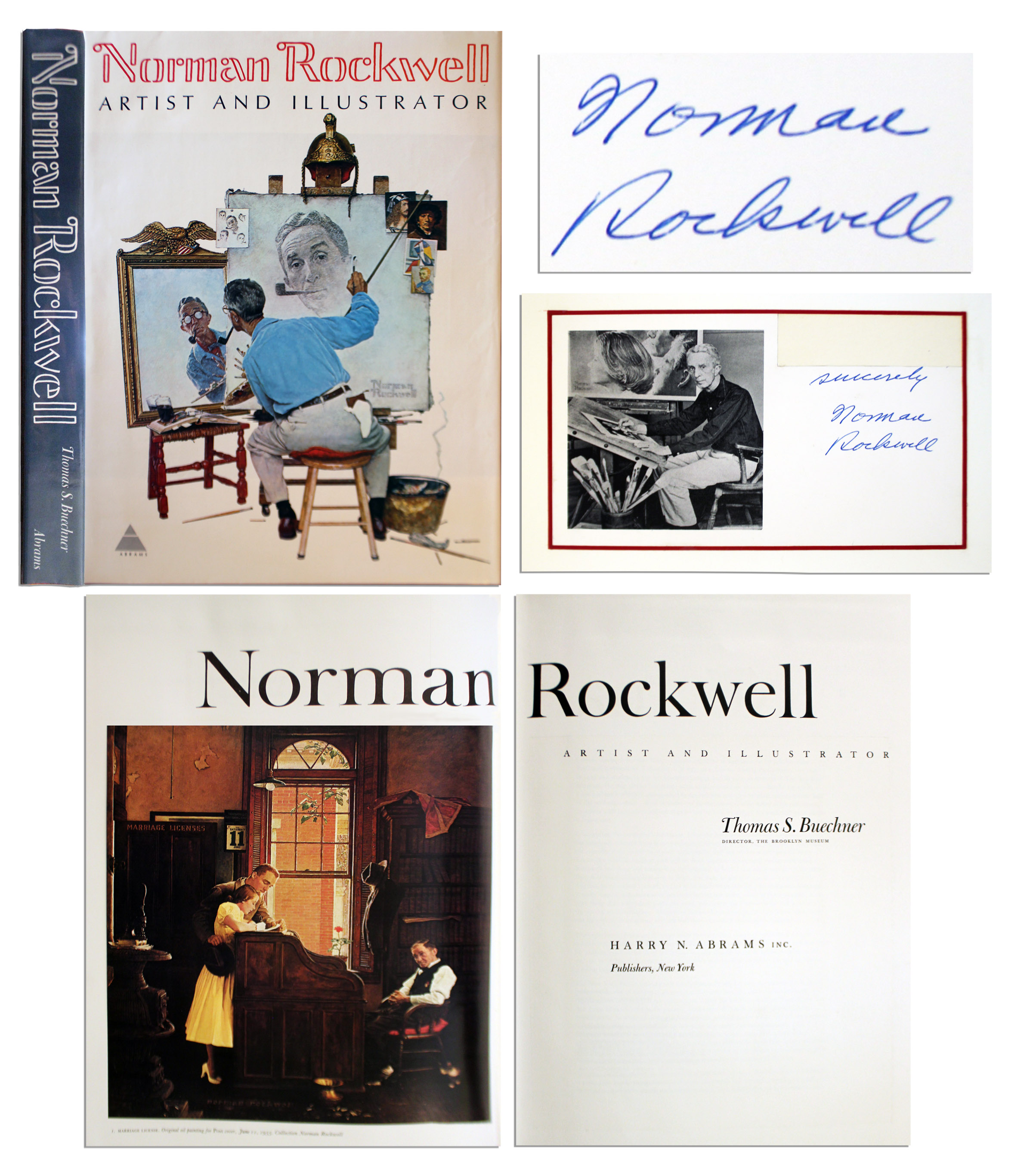 Lot Detail Norman Rockwell s Signature Affixed Within Coffee