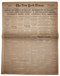The New York Times From 6 September 1939 -- Germans Shell Warsaw & War Stocks Boom