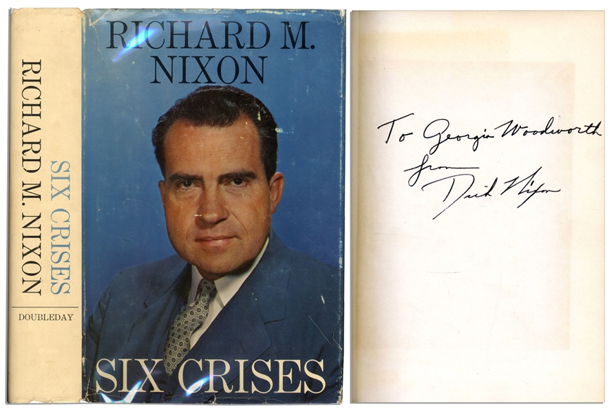 Richard Nixon ''Six Crises'' First Edition Signed