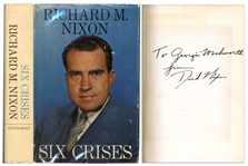 Richard Nixon Six Crises First Edition Signed
