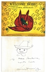 Ludwig Bemelmans Welcome Home! Signed -- With Sketch of a Young Boy