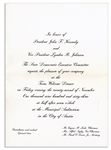 An Invitation to Dinner Welcoming JFK to Texas the Night of His Assassination