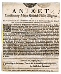 English Civil War 1650 Broadside Appointing a Commander in Chief of The Guard to Protect Parliament -- ...for the suppressing of all Tumults, Insurrections, Rebellions, and Invasions...