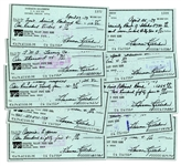 Baseball HOFer Harmon Killebrew Signed Personal Checks -- Lot of 10