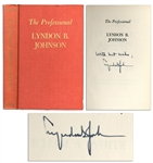 Lyndon B. Johnson Uninscribed Signed First Edition of The Professional