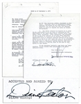 Diane Keatons Signed Contract to Star in The Godfather Part II