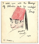 Illustrator Henry Clive Signed Drawing With Inscription