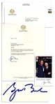 George W. Bush Typed Letter Signed as President-Elect -- ...Dick Cheney and I want to thank you for all you have done for us...