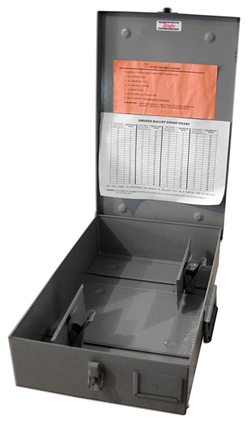 Own A Piece Of Election History - 2000 Presidential Ballot Transfer Case Used in Palm Beach, Florida - The County That Caused the U.S. Presidential Race to Be Decided by the Supreme Court
