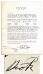 1946 Richard Nixon Campaign Letter With Autograph Note Signed -- ...take...every opportunity...to win voters away from the discredited policies of the New Deal Administration...