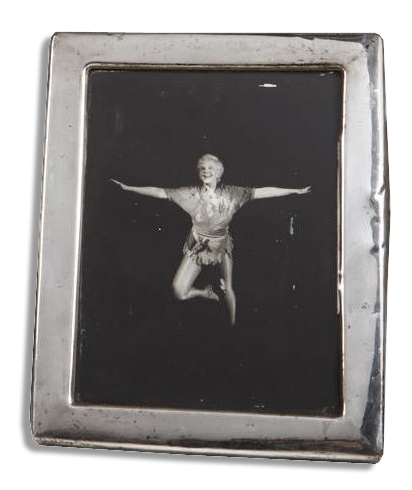 Mary Martin Sterling Silver Frame Displaying a Photo of Martin as ''Peter Pan''