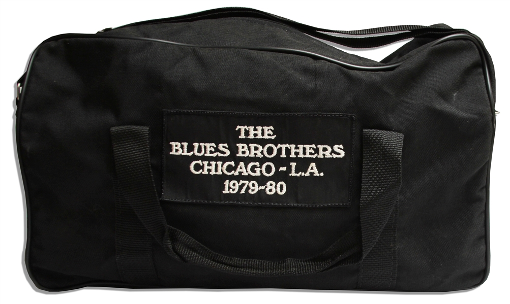 Original ''Blues Brothers'' Never Used Duffel Bag From the 1980 Tour