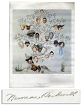 Norman Rockwell Signed Print of His Famous Saturday Evening Post Cover From 1959 Titled, Family Tree
