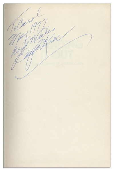 McDonald's CEO Ray Kroc Twice Signed Book, ''Grinding It Out: The Making of McDonald's''