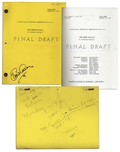 Lucille Ball Personally Owned Script From Her 1979 TV Special -- ''Lucy Moves to NBC''