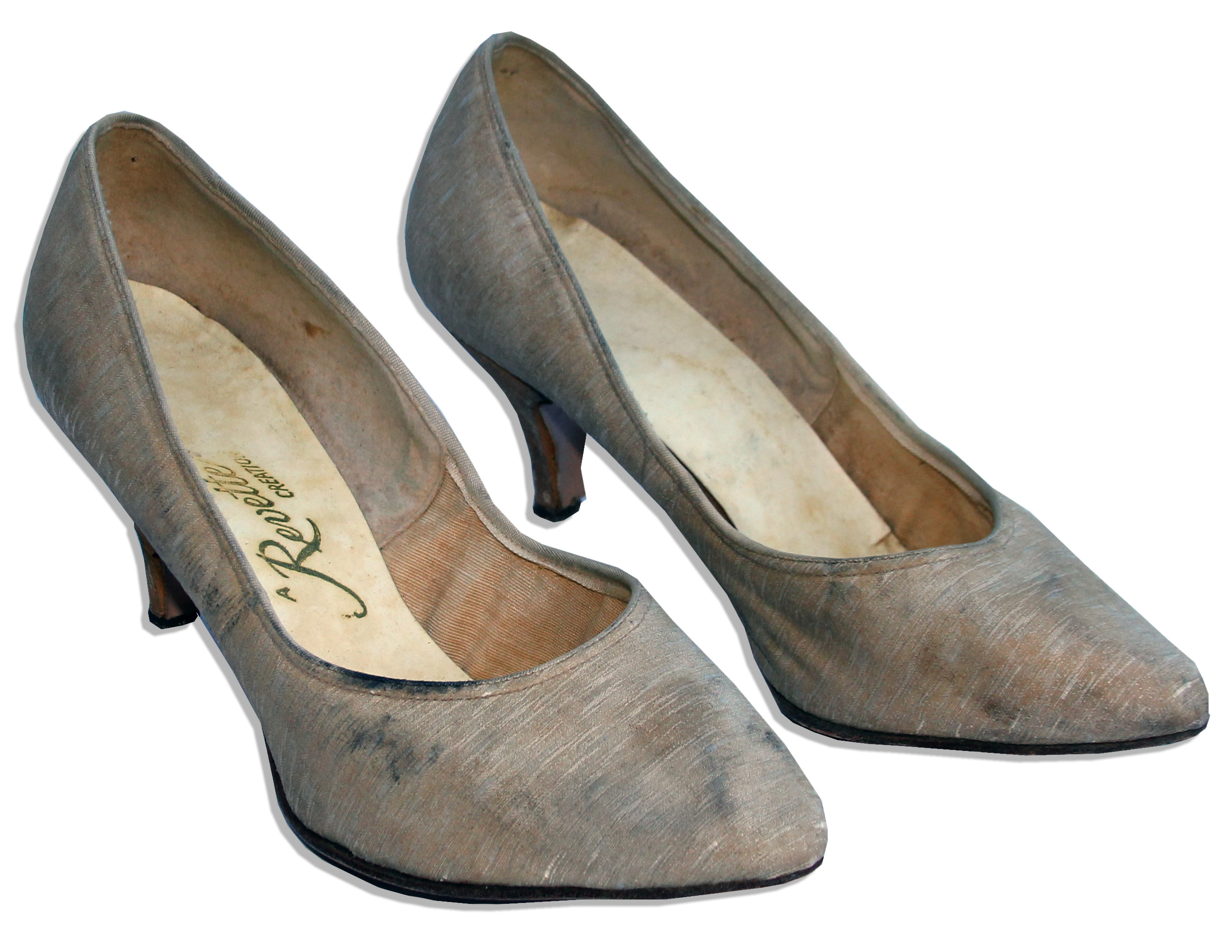 Jackie Kennedy Personally Owned Worn High Heel Shoes By Revette