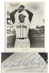 HOFer Satchel Paige 8 x 10 Photo Signed