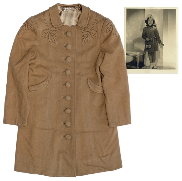 Shirley Temple Screen-Worn Coat From 1938 Film Little Miss Broadway