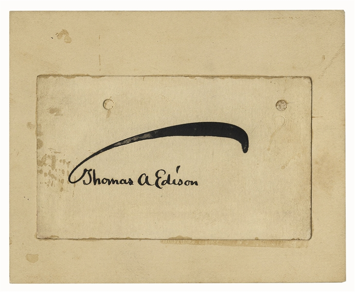 Thomas Edison Signature
